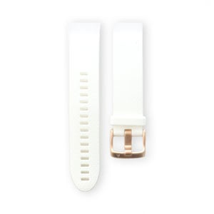 QuickFit 20mm White with Rose Gold Band
