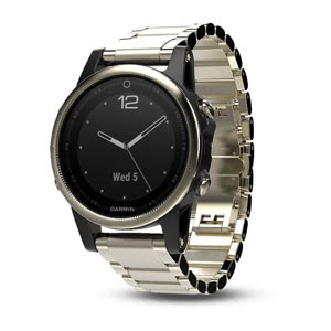 fenix 5s Sapphire - Champagne with Metal Band