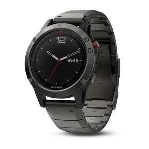 fenix 5 Sapphire - Grey with Metal Band