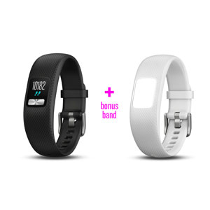 vivofit 4 Black Small/Medium with Bonus White Band