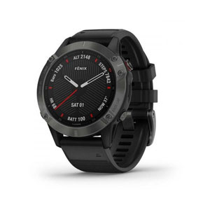 fenix 6 Sapphire - Black with Black Band