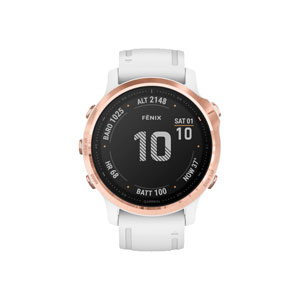 fenix 6S Pro - Rose Gold-tone with White Band