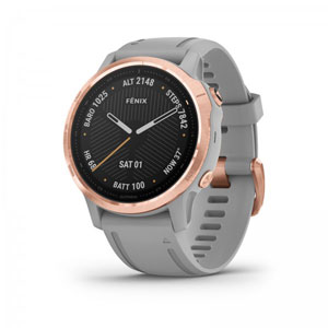 fenix 6S Sapphire - Rose Gold-tone with Powder Grey Band