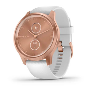 vivomove Style - White Silicone with Rose Gold Hardware