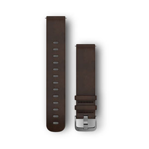 Quick Release 20mm Band - Dark Brown Leather