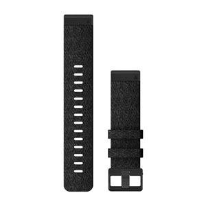 QuickFit 22mm - Heathered Black Nylon Band