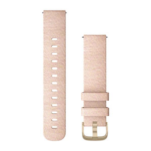 Quick Release Band 20mm - Blush Pink Woven Nylon with Light Gold Hardware