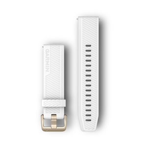 Garmin Light Gold White Silicone Band