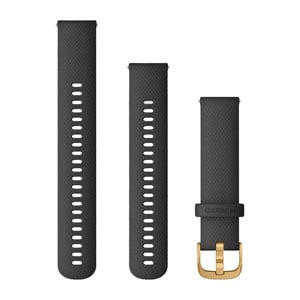 Quick Release 20mm Band - Black with Gold Hardware