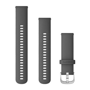 Garmin Quick Release 22mm Band - Shadow Grey with Silver Hardware