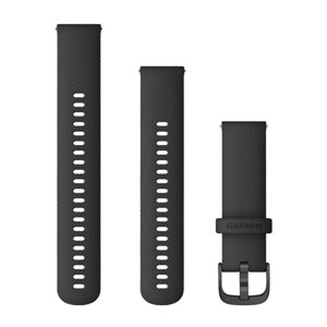 Garmin Quick Release 22mm Band - Black with Slate Hardware