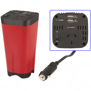 150W 12V Car Inverter with USB