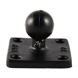"RAM Square Plate 2x2 Inch 1"" Ball"
