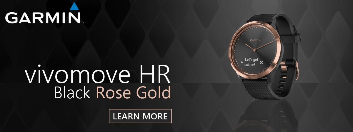 Garmin Vivomove HR Black Rose Gold