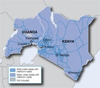City Navigator East Africa Map Coverage