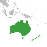 Australia and New Zealand maps preloaded