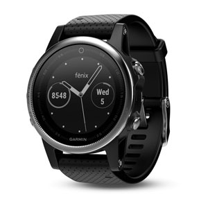online store aed81 aac44 Garmin fenix 5S - Silver with Black Band